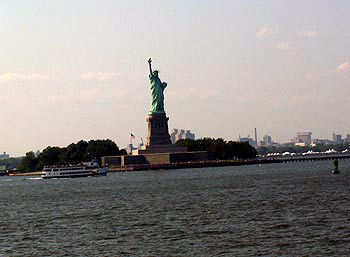 Lady Liberty viewed from the Staten Island ferry.