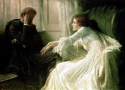 """The Confession"" by Sir Frank Bernard Dicksee"