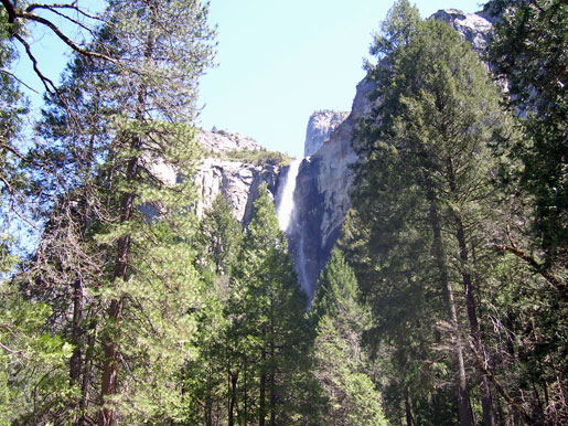 Bridalveil Falls from a distance.